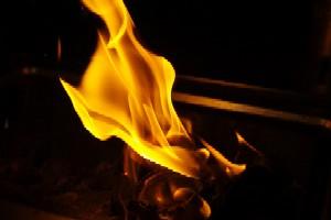 暖かく激しく燃えていく