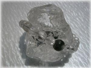 天然ヒマラヤ水晶(クローライト1点付)ブレスレット
