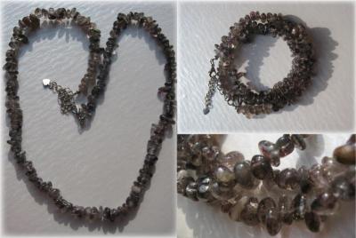 スーパーセブン細石のネックレスとブレスレット