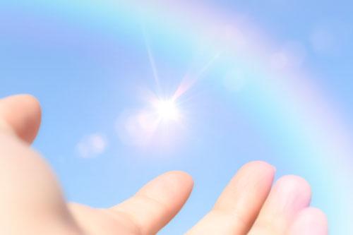 虹のかかる空へ